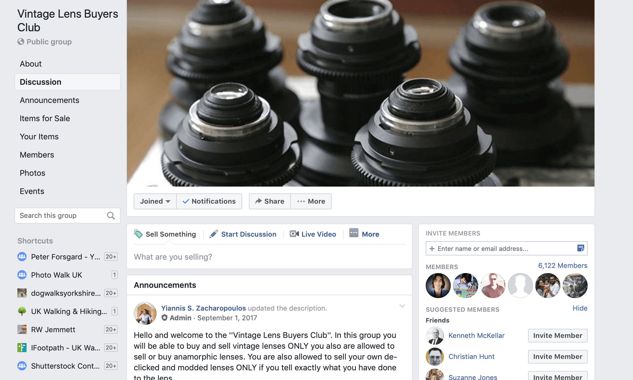 Vintage Lens Buyers Club – Facebook Group