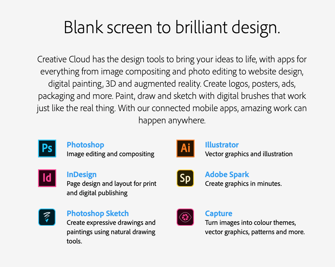 Adobe – Creative Cloud