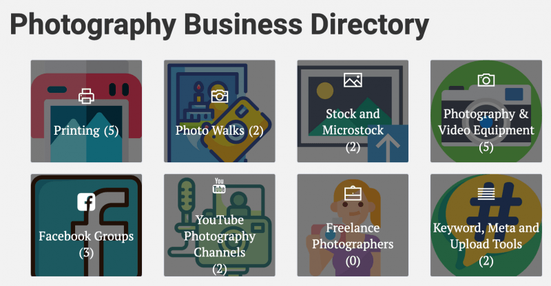 Photography Business Directory  - Launched 4