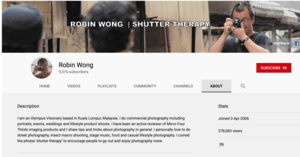 Robin Wong YouTube