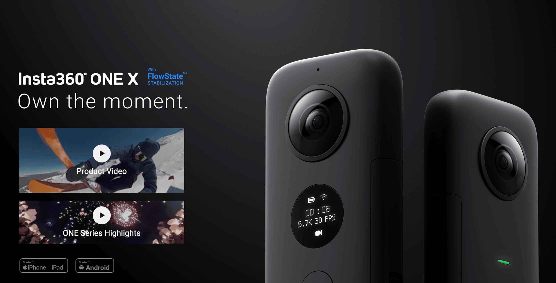 Insta360 – Action, 360/3D Cameras
