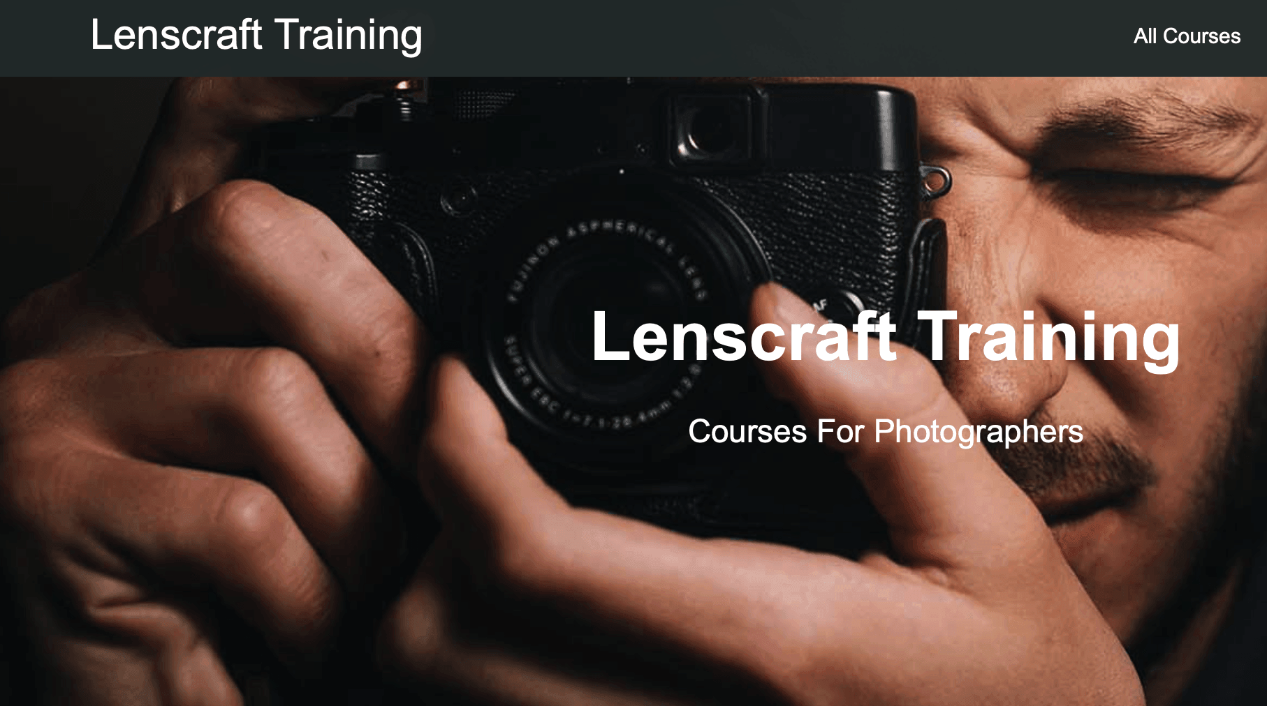 Lenscraft Training – Courses For Photographers