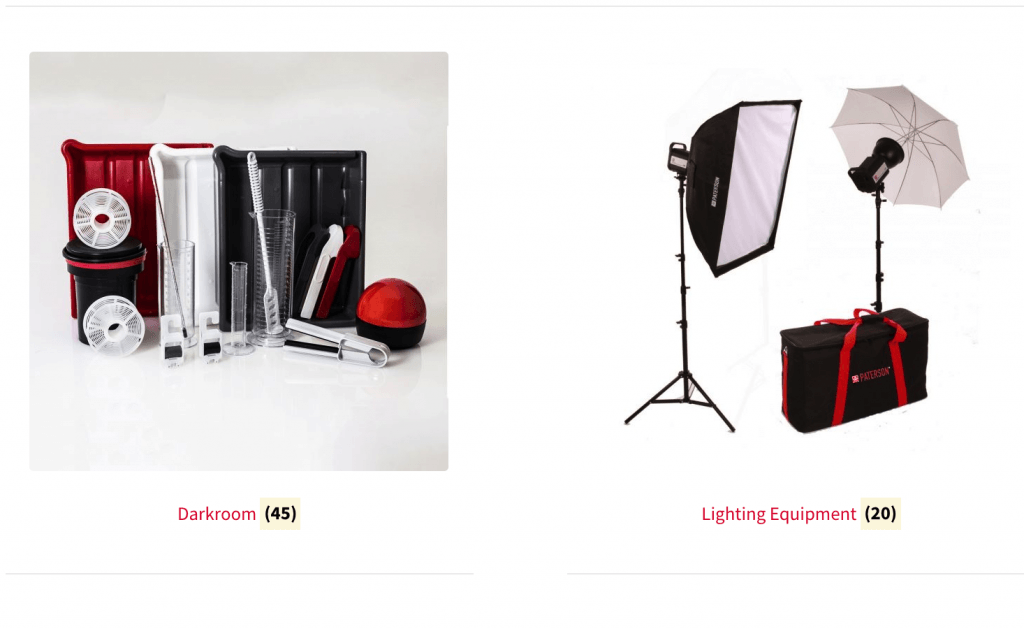 Paterson Photographic Equipment – Darkroom, Tripods, Lighting