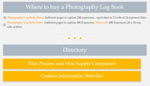 Photograph Log book page