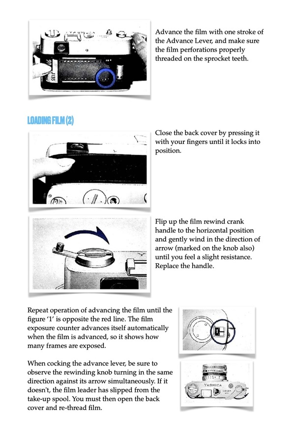 Yashica Camera book example page